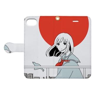 日の出 Book style smartphone case