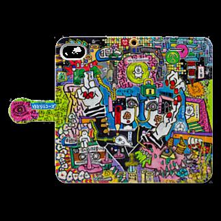 福留茜のAKANE CITY 2019 Book style smartphone caseを開いた場合(外側)