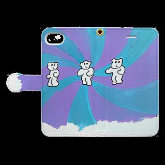 RAITYO TSUMEのダンスタイム Book-style smartphone caseを開いた場合(外側)