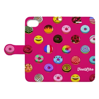 Donuts_pink Book-style smartphone case