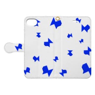 折り紙 青魚 影有り Book-style smartphone case