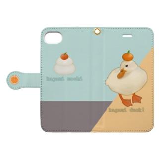鏡餅ダック Book style smartphone case