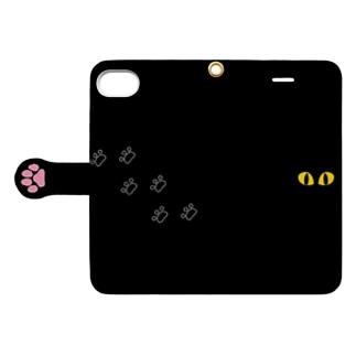 黒猫さんのかくれんぼ★ Book-style smartphone case