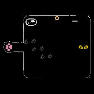 Bebe SHOPの黒猫さんのかくれんぼ★ Book-style smartphone caseを開いた場合(外側)
