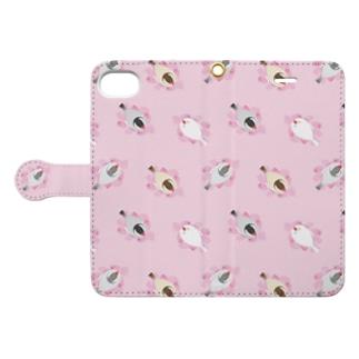 SAKURA BED うす桃 Book-style smartphone case