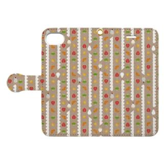 Fruit sandwich Chocolate cream Book-style smartphone case