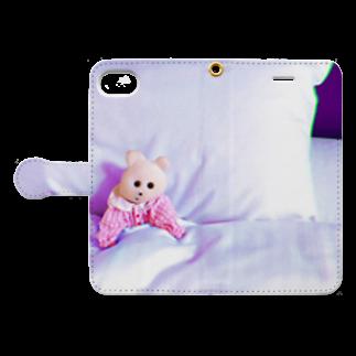 RAITYO TSUMEの寝ないの Book-style smartphone caseを開いた場合(外側)