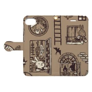窓のある暮らし(手帳型ケース/iPhone7.8) Book-style smartphone case