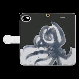 混沌コントロール屋さんのオクトパス Book-style smartphone caseを開いた場合(外側)