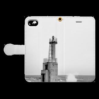 show11001の灯台 Book-style smartphone caseを開いた場合(外側)