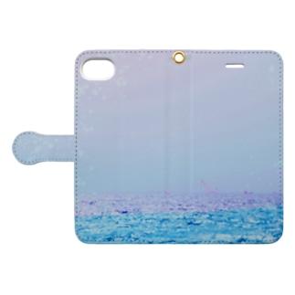 夏の海 Book-style smartphone case