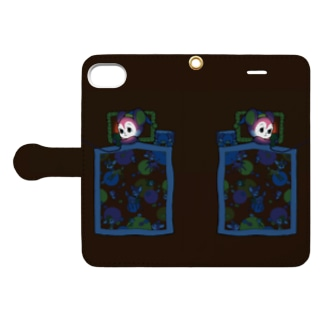 くらやみスマホ依存 Book-style smartphone case