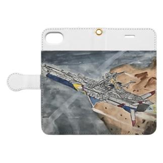「ヒリュウ、発進ッ!(第三話より)」スマートフォンケース(iPhone7/8用 Book-style smartphone case