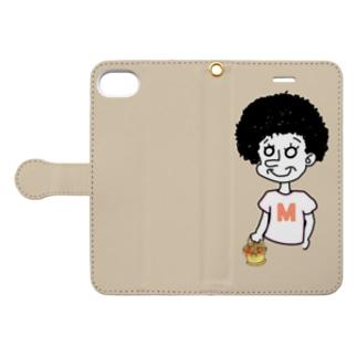 クリームベージュ Book-style smartphone case