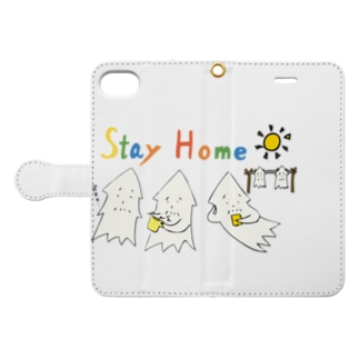 STAY HOME モンゴイカ Book-style smartphone case