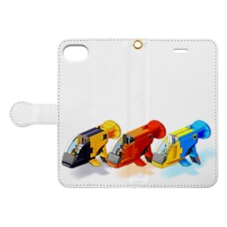 PoooompadoooourのGUPPY(3色) Book-Style Smartphone Caseを開いた場合(外側)