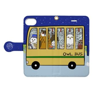 ふくろうバス Book-style smartphone case