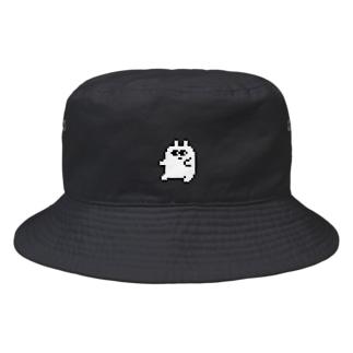 ドットでじっと見ているぞ Bucket Hat