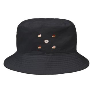 いぬとケーキ チョコ Bucket Hat