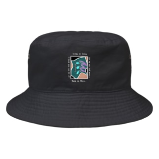 Hang in there.グリーン Bucket Hat