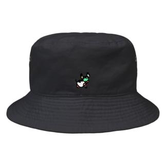 ワンポイントの牛さん Bucket Hat