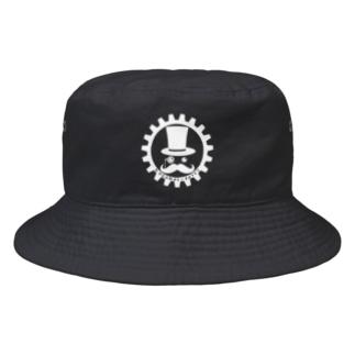 吾輩じゃよ?(白)~キャップ&ハット~ Bucket Hat