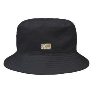 レトロな世界地図 Bucket Hat