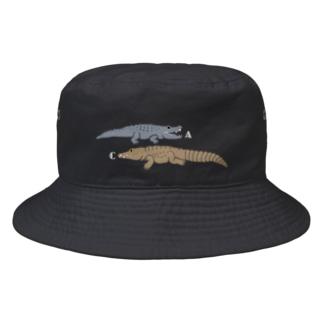 アリゲーター&クロコダイル Bucket Hat