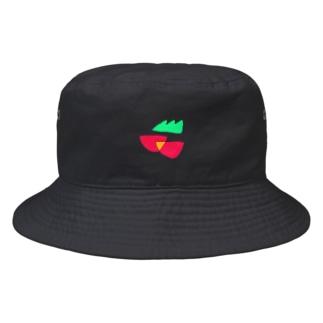 緑のギザギザと赤いのふたつ、さくらんぼミニトマト Bucket Hat