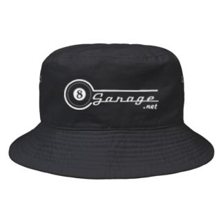 8garage SUZURI SHOPの8garage ロゴ Bucket Hat