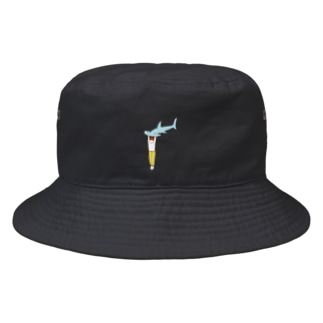 シュモクザメブルー Bucket Hat