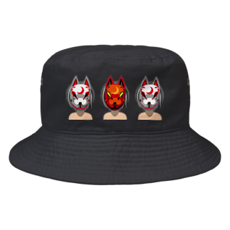 Studio MOONの狐兄弟 Bucket Hat