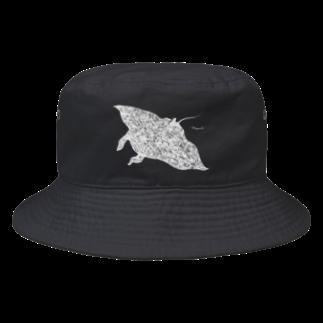 山口昇悟 Shogo Yamaguchiのマンタ 白 Bucket Hat
