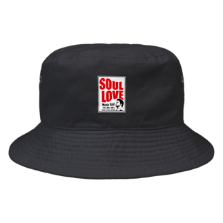 music bar SOUL LOVEのSOUL LOVE ロゴ second Bucket Hat