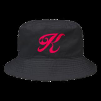 保護猫グッズ・パール女将のお宿のイニシャル K Bucket Hat