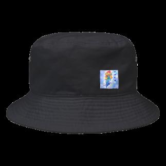 ぱんだうさぎ亭リズのアマビエさま。濃いめ。 Bucket Hat