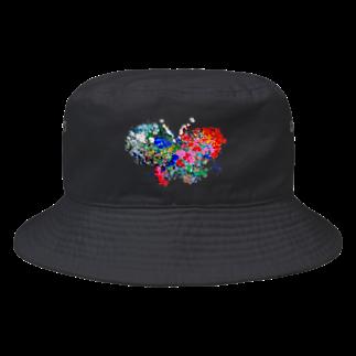 卍のポコ太郎てんてんチョウチョ Bucket Hat