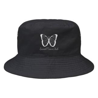 SMC white butterfly logo Bucket Hat