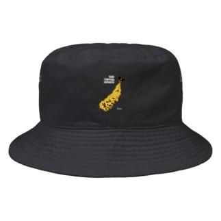 天ぷら・立ち呑み 國KOKU 帽子(黒) Bucket Hat