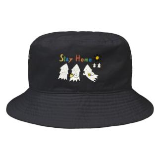 モンゴイカンパニー 販売部のSTAY HOME モンゴイカ Bucket Hat