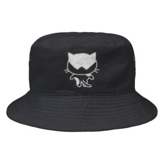 猫ねむりzzz..のハチワレ猫ちゃんの後ろ姿 Bucket Hat