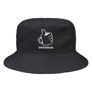 """SHOP : ユディーの""""コーヒーは死なせない""""D Bucket Hat"""