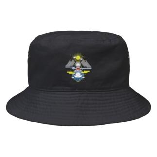 聖域 太陽と月と神社 Bucket Hat