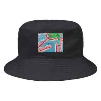 くれよん塗り子 Bucket Hat