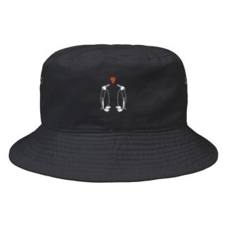 ペンギンLOVE_線白 Bucket Hat