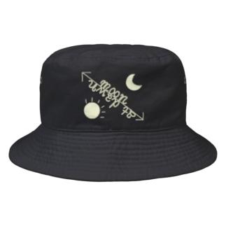 帰宅倶楽部の夜明けの月帽 Bucket Hat