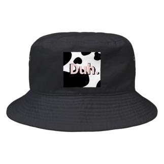 Duh cow pattern light pink Bucket Hat