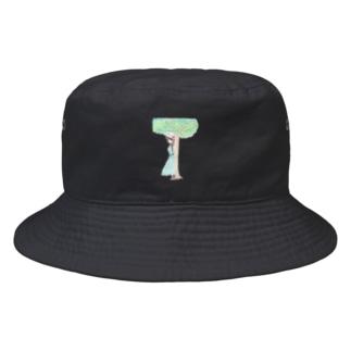 木陰で休む少女 Bucket Hat