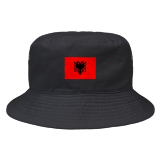 カマラオンテのアルバニア Albania アルバニア共和国 Republika e Shqipërise 旗 flag 国旗 Bucket Hat