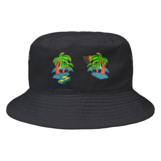 ゆるスカ パームツリー 180 Bucket Hat